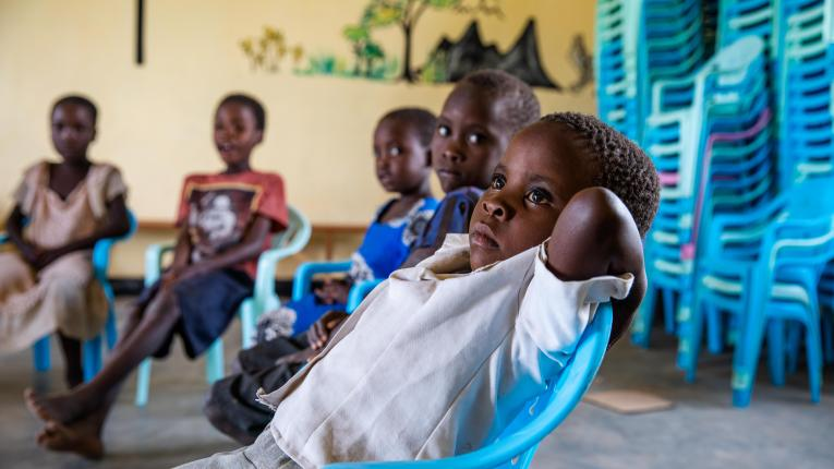 A child in class at Makankhula CBCC in Dedza