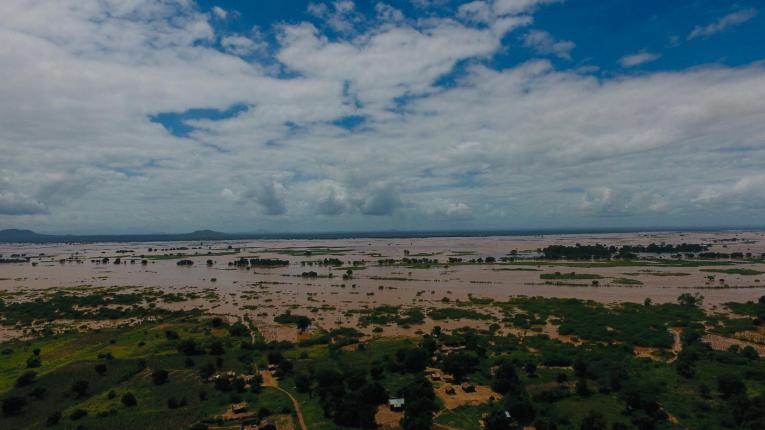 Drone footage of the areas affected by floods in Southern Malawi