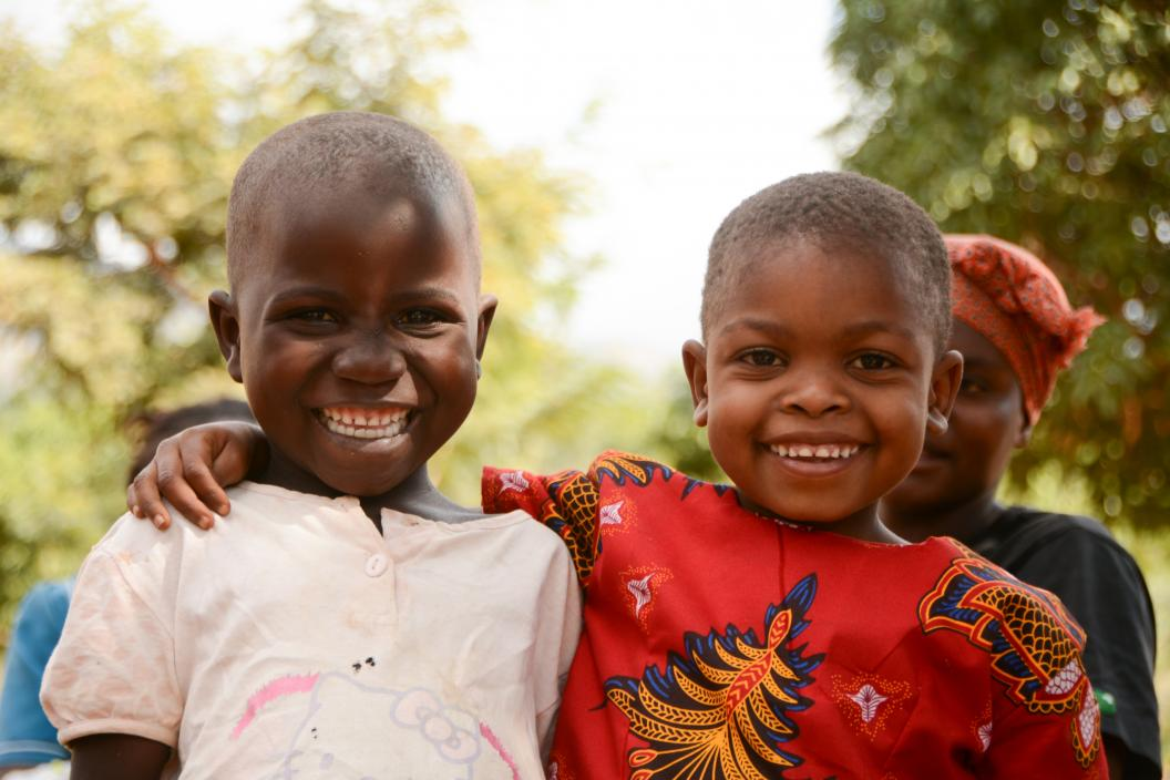 Children in Zomba, Malawi during child health days