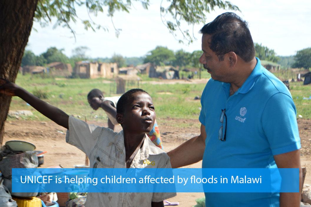 UNICEF is helping children affected by floods in Malawi