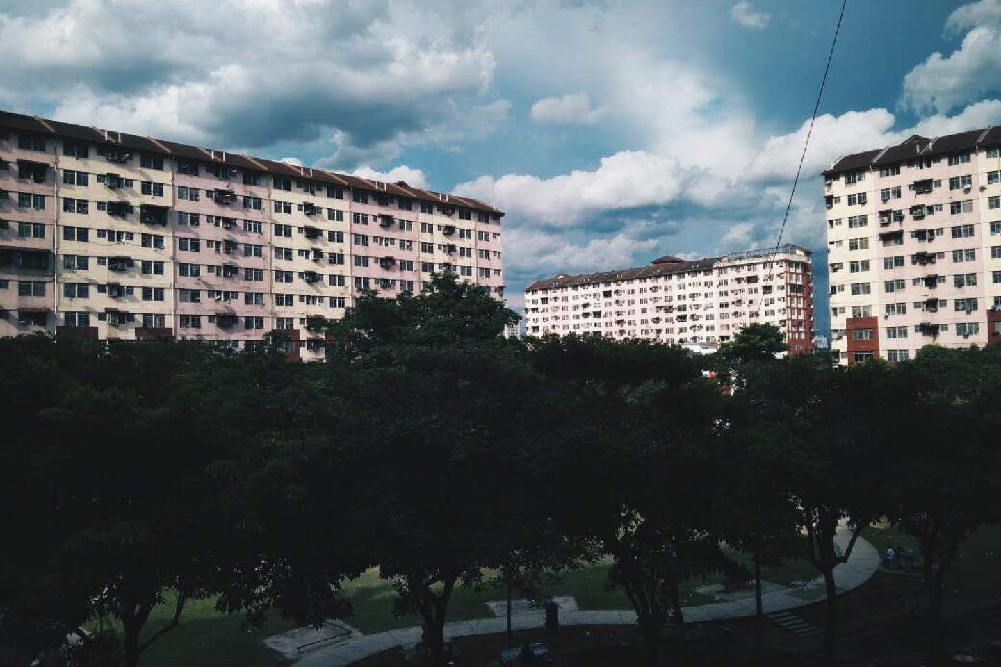 Low cost flats in Malaysia