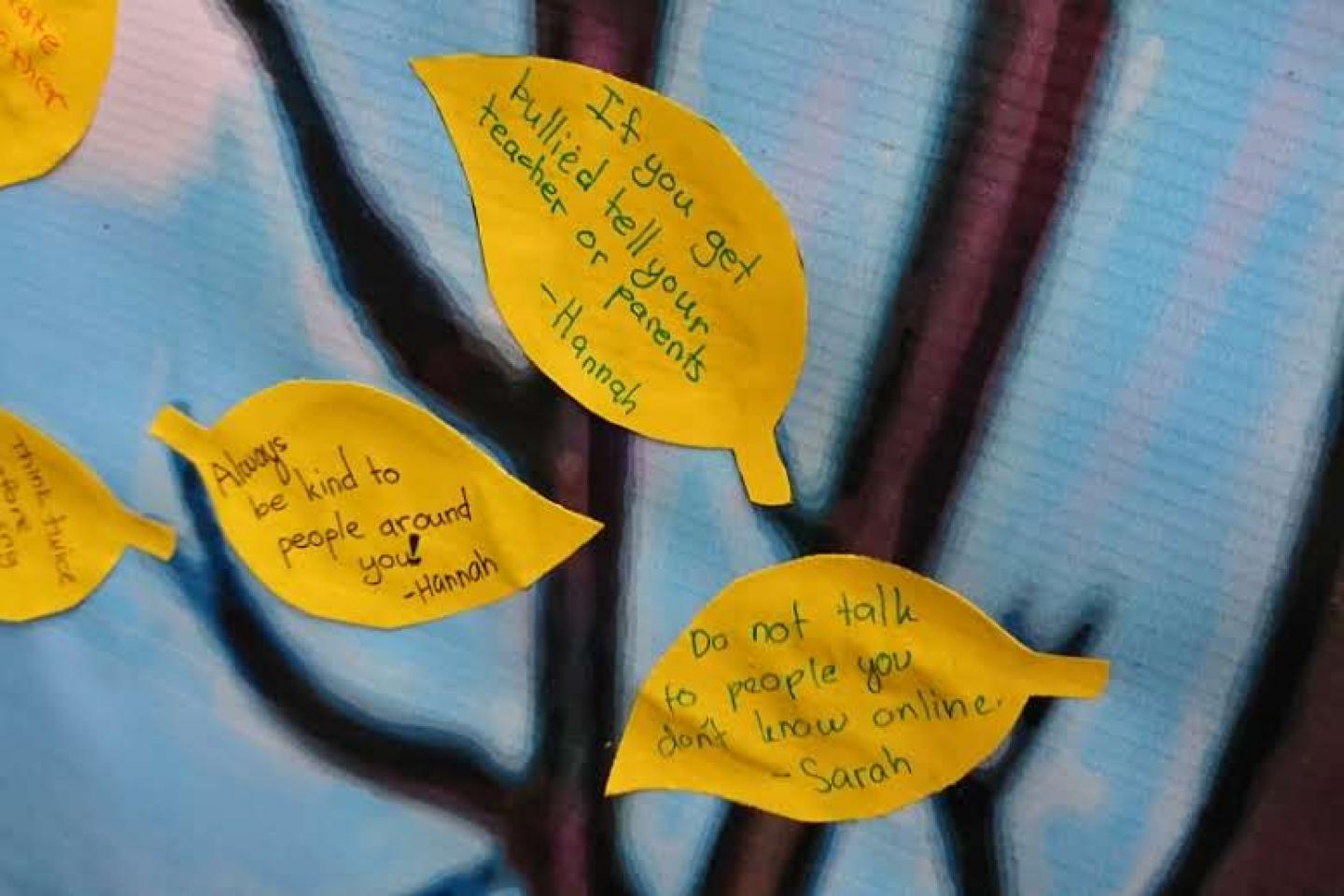Post its with kind messages