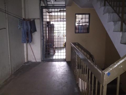 The staircase and doorway at a low cost flat in KL
