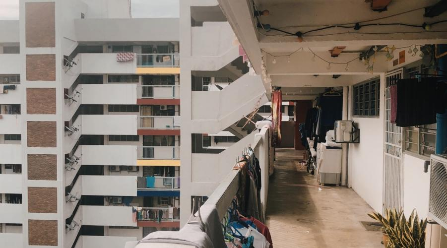 Scene at a low cost flat in KL