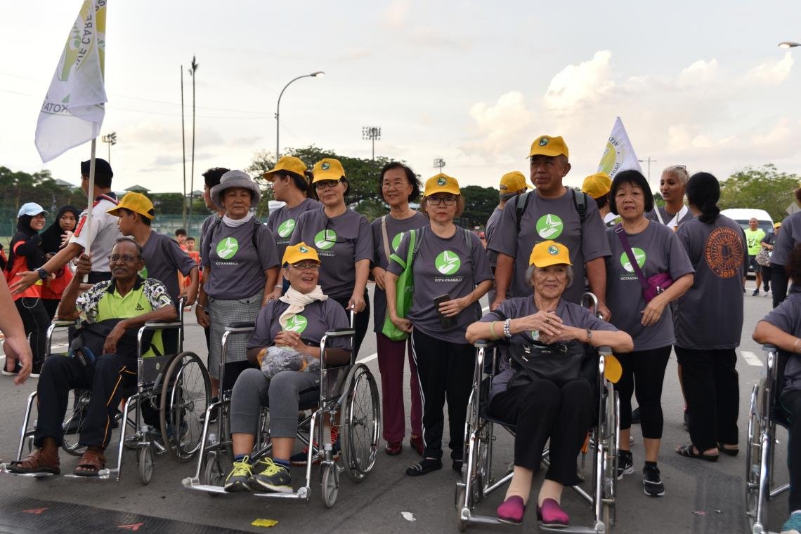 People with disabilities join the race