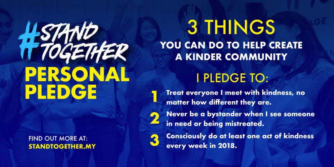 the pledge with 3 things students can do to be kinder