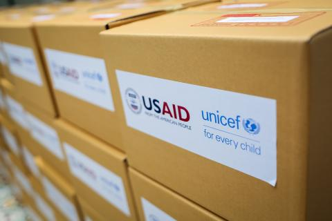 USAID and UNICEF supplies