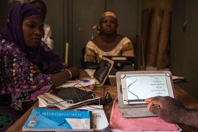 UNICEF and its partners are piloting innovations such as learning by tablets to improve the quality of education in crisis-affected areas and ensure uninterrupted learning for every child.