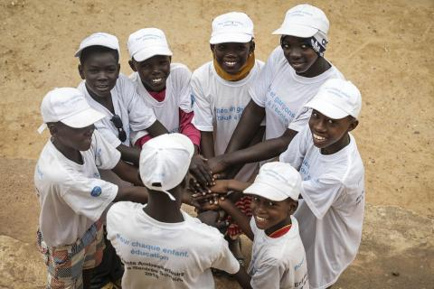 A group of back-to-school children ambassadors in Mopti