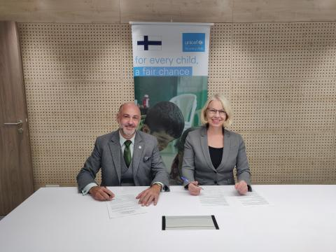The Government of Finland has renewed its commitment to support children's rights in Syria