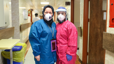 two female health workers