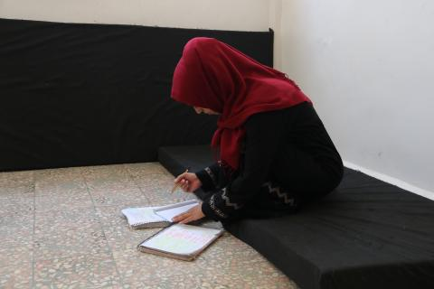 Manar, 21, studying at home.