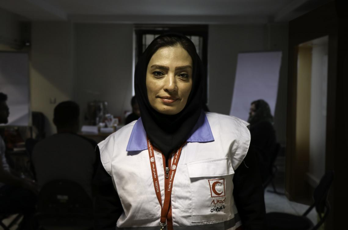 member of the IRCS SAHAR Teams
