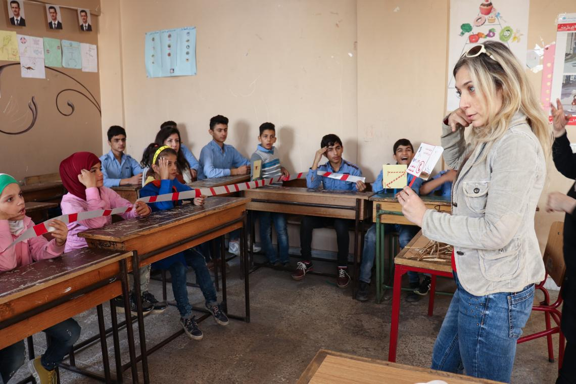 Lifesaving mine risk education for children with disabilities in Aleppo