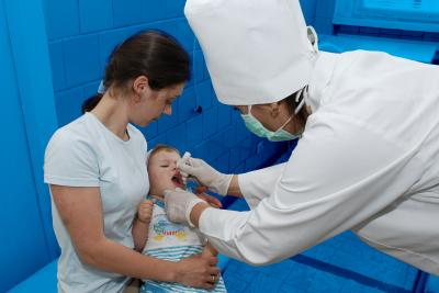 a child getting immunized Moldova