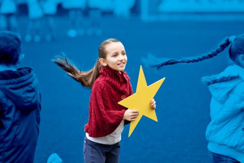 girl with star, Moldova