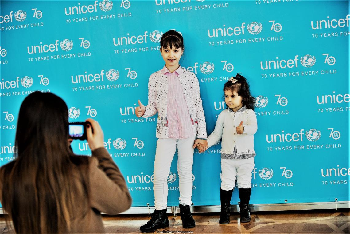 girls at UNICEF@70, Moldova