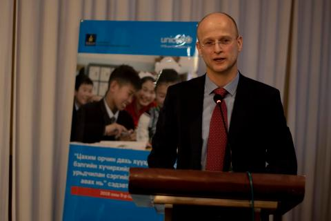 Mr. Alex Heikens during the opening of the consultation