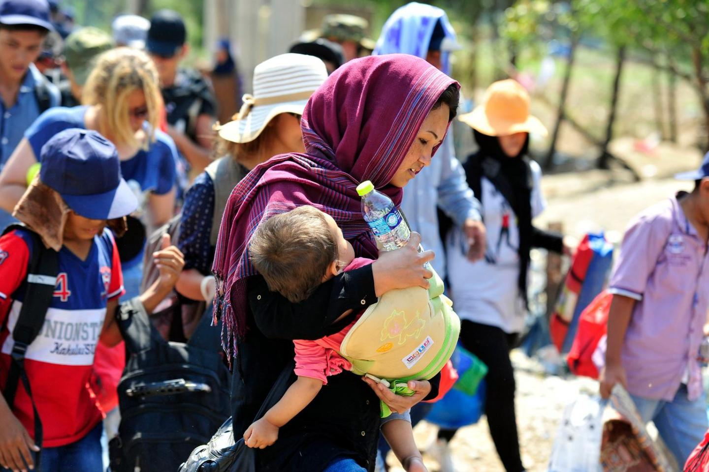 Women and children seeking refuge in Europe