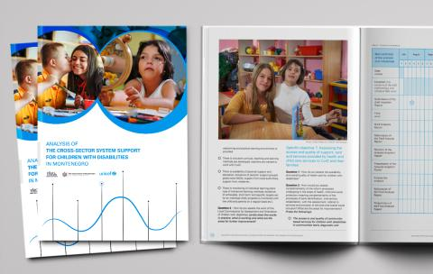 Analysis of the cross-sector system support for children with disabilities in Montenegro - cover