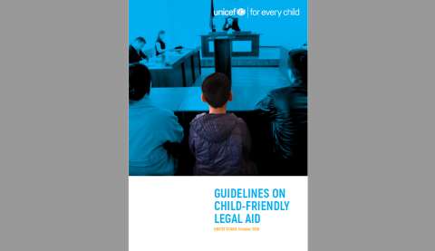 Guidelines on child-friendly legal aid cover photo