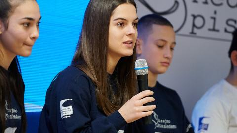Nađa Lalović, 15, young reporter -  UNICEF volunteer