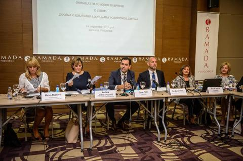 Panelists during the Round table discussion on amendments to the Family Law