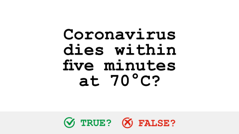 Visual for Corornavirus fact checking