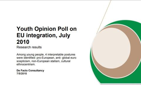 Youth Opinion Poll on EU integration, cover