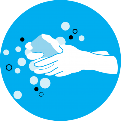 This image shows an illustration of handwashing
