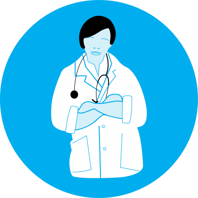 This image shows an illustration of a doctor