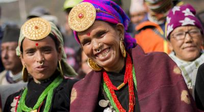 Women in Humla in their traditional attire