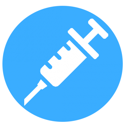 This image shows an illustration of a syringe