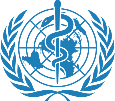 This image shows the WHO logo