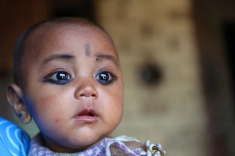 A child in Nepal
