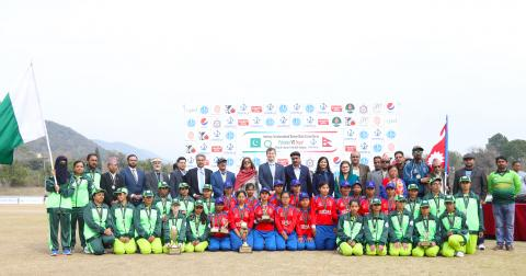 Blind cricket team of Pakistan and Nepal