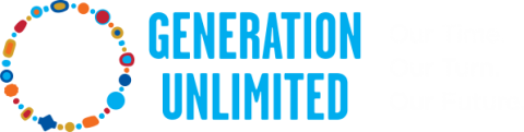 This image shows the generation unlimited logo