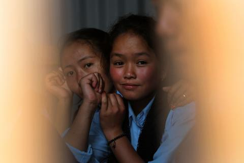 Adolescent girls from Nepal