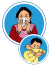 This image shows a woman sneezing into a tissue and a man sneezing into his elbow