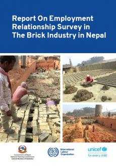This image shows the cover of the report on employment relationship survey in the brick industry in Nepal