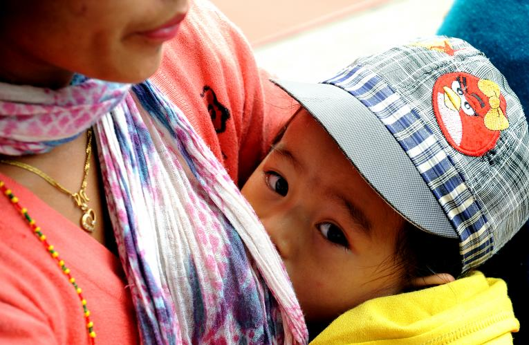 More than half of babies in Nepal are breastfed in the first
