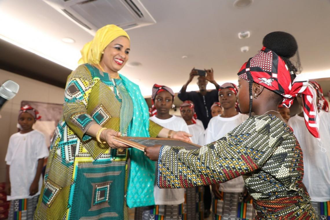 """For the schooling of girls, I commit myself personally"" said Dr. Malika Issoufou First Lady of the Republic of Niger."