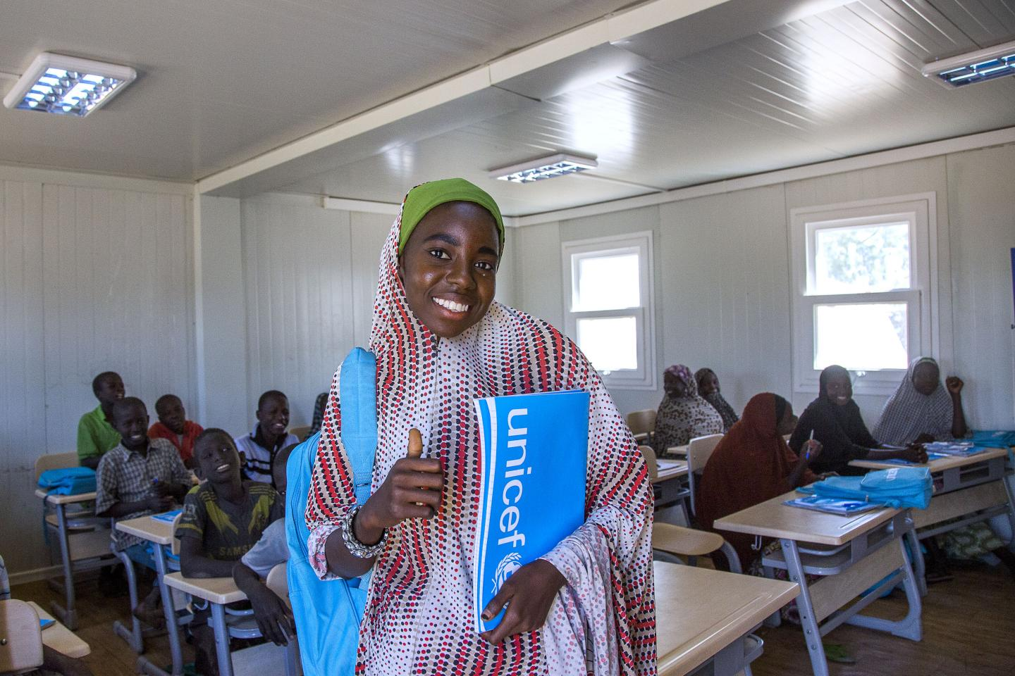 Students in classroom. Photo: UNICEF