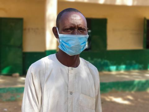 Gambo Ibrahim, a teacher at the Dogon Kuka Primary School, Yobe State