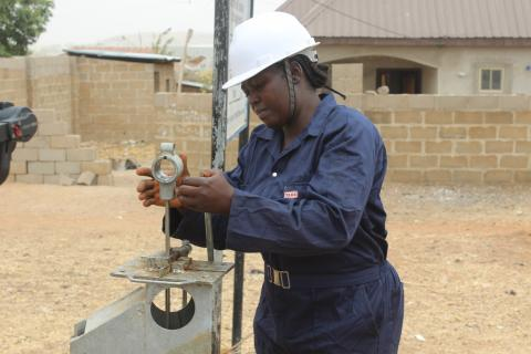 A borehole mechanic at work