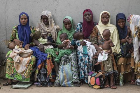 women-wait-at-malnutrition-screening-clinic