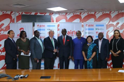 UNICEF Nigeria and Airtel teams