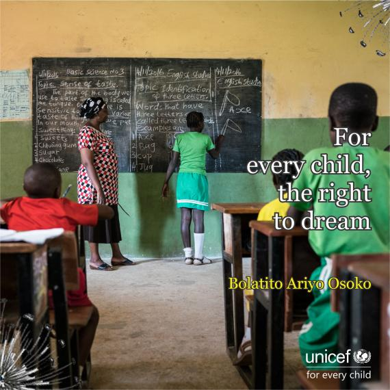 For every child, the right to dream