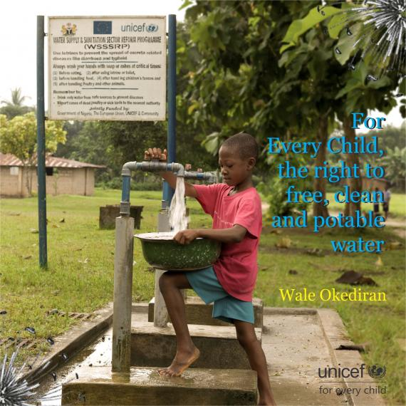 For Every Child, the right to free, clean and potable water