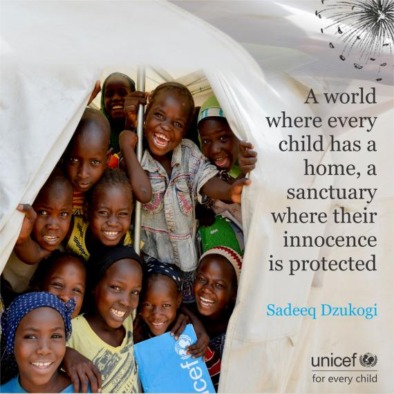 A world where every child has a home, a sanctuary where their innocence is protected